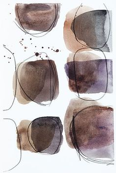 - thérèse murdza - watercolor, pencil on paper Abstract Watercolor Art, Abstract Drawings, Watercolor And Ink, Watercolor Illustration, Black And White Abstract, Art Plastique, Art Techniques, Contemporary Art, Gouache