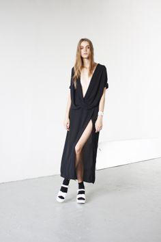 Assembly New York Spring 2013 Twist Top and Split Skirt #ss13 #minimal #lookbook