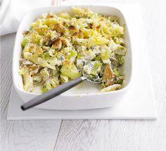 Leek & mackerel penne bake recipe - Recipes - BBC Good Food