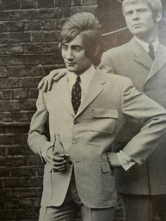 Rod the Mod with Long John Baldry . Rod made his name in Johns Band the'Hoochie Coochie Men' .