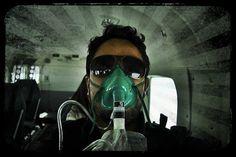 Necesidad de oxígeno en pleno vuelo.