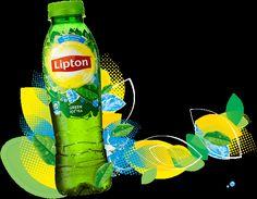 Lipton  Green Lipton Ice Tea, Tea Ideas, Non Alcoholic Drinks, Iced Tea, Packaging Design, Social Media, Graphic Design, Green, Food