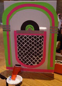 Sock hop Jukebox Decoration