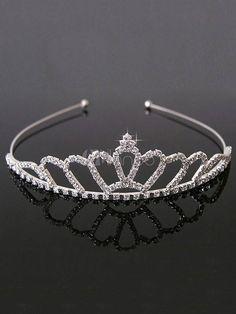 Stunning Silver Tone Diamante Single Row Headband Tiara Free UK P/&P