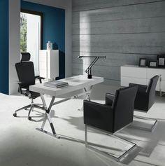 Mesas de oficina, sillas, estanterías de despacho, soluciones inteligentes para ahorrar espacio y que todo esté en su lugar para empezar a estudiar o trabajar.