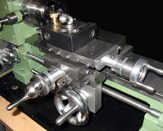 "The ""Elffers"" Home-built Lathe - carriage, cross slide and lathe compound are very smooth acting"