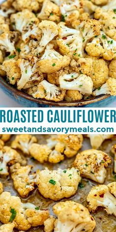 This Roasted Cauliflower recipe gives the veggie a lift in terms of flavors and texture #sweetandsavorymeals #roastedcauliflower #cauliflower #fallrecipe