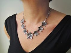 Bib Necklace Statement Necklace Women Jewelry  by ebrukjewelry