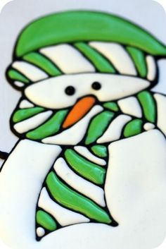 royal icing snowman R I TIPS &  MAKING R I INDIVIDUAL PIECES