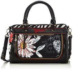 Desigual Dublin Flojigsaw Cross Body Bag Black One Size Size >>> Details can be found by clicking on the image.