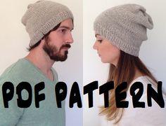 INSTANT DOWNLOAD Knitting Pattern Knit Slouch by BoPeepsBonnets, $5.00