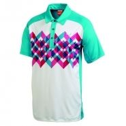 Puma Raglan Graphic Mens Golf Shirt White Bluebird