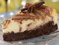 Really yummy cheesecake!  I overcooked the brownies a bit and had a hard time melting the milk chocolate chips (will find an alternate melted chocolate for next time!)  Everyone still raved and it was ALL eaten!
