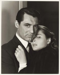 "Ernest Bachrach  Cary Grant & Ingrid Bergman for ""Notorious"" (ph Ernest Bachrach/RKO 1946)"