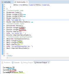 Este es otro ejemplo de herencia orientado a php