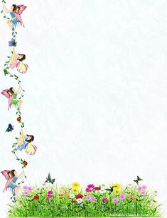 Fairy Vine Stationery | For the free printable size statione… | Flickr