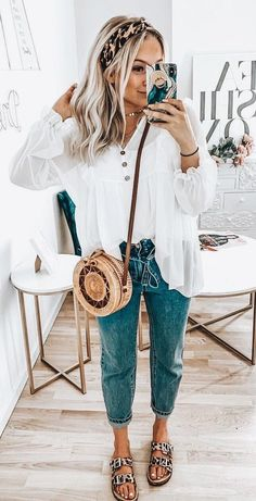 perfect spring outfits to imitate as soon as possible - summer fashion ideas - Summer Outfits Mode Outfits, Trendy Outfits, Fall Outfits, Fashion Outfits, Womens Fashion, Woman Outfits, Fashion Hacks, Ladies Fashion, Hijab Fashion