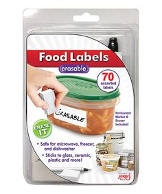 Another great find on #zulily! Erasable Food Label - Set of 70 #zulilyfinds
