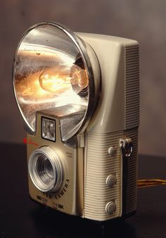 awesome little light is crafted from a vintage Kodak Starflash camera.
