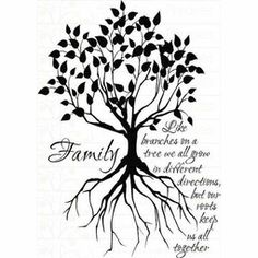 Tree Silhouette Tattoo | Small Family Tree Tattoo Designs