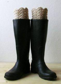Boot cuff beige boot socks Rustic clothing