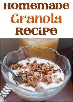 Homemade Granola Recipe! - at TheFrugalGirls.com #recipes #thefrugalgirls