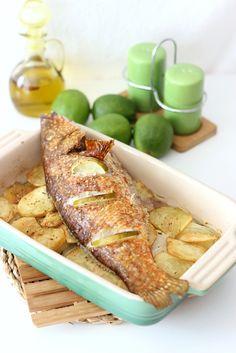 Pescado al horno, receta facilísima