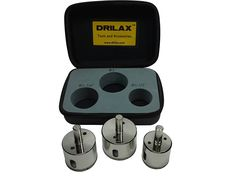 Drilax___ 3 Pcs Diamond Drill Bit Set 1-1/2' , 1-3/4' , 2' for Ceramic, Porcelain Tiles, Glass, Fish Tanks, Marble, Granite, Quartz, Lot 3 Diamond Coated Hole Saws- Kitchen, Bathroom, Shower, Faucet - Holesaws - Wet Drilling Tool Drilax033850 * Check this awesome image  : home diy improvement