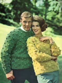 I know some people hate bobbles but, I adore them. This is a pattern from the 1960s.