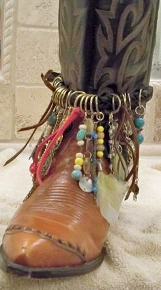 Free People inspired boot jewelry boho boot  by Lifeloveandmusic, $38.00