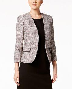 Kasper Petite Embellished Tweed Jacket - Wear to Work - Women - Macy's