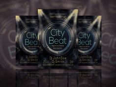 EXCLUSIVE CITY BEAT FLYER PSD TEMPLATE free for download Free Flyer Design, Flyer Design Templates, Psd Templates, Flyer Template, Free Business Card Templates, Free Business Cards, B Names, Club Flyers, Typography Poster