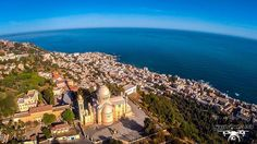 Notre Dame d'Afrique, Algiers. This stunning Catholic cathedral was built in 1872. - Algeria From A Drone