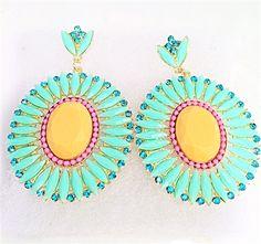 Tiffanny Sunshine Drop Earrings #earrings#tiffanyblue #Tiffannycolor