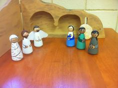 Peg people for The Empty Tomb Level 1 Catechesis of the Good Shepherd. Church of the Ascension Norwood Young America, MN