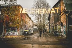 Neue Heimat, Berlin. An old railway station turned into an urban space for concerts, street food, art and happenings. www.neueheimat.com