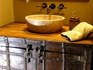 Cool reuse of an antique trunk