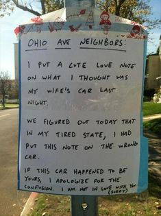 The question is, how many fights, break-ups, or divorces did this numbskull cause on Ohio Ave ? -- OR -- Is this sneaky freak covering his own ass ?!