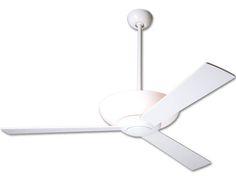 aurora ceiling fan - gloss white, the modern fan company