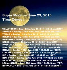 SUPER MOON JUNE 23, 2013