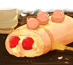 Explore the food art 'q' collection - the favourite images chosen by on DeviantArt. Cute Kawaii Drawings, Cute Animal Drawings, Kawaii Art, Cute Food Art, Cute Art, Cute Ducklings, Chibi Food, Kawaii Dessert, Anime Animals