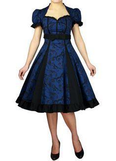RK77-Rockabilly-Evening-Retro-Bridesmaid-Dress-Pin-Up-Vintage-50s-Prom-Swing