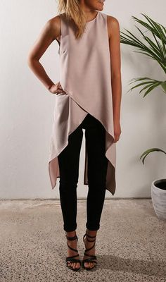Chiffon Irregular Sleeveless Top - VIVIMARKS