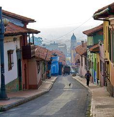 La Candelaria neighborhood, Bogotá, Colombia.  / Barrio Tradicional de la Candelaria en Bogotá, Coombia.