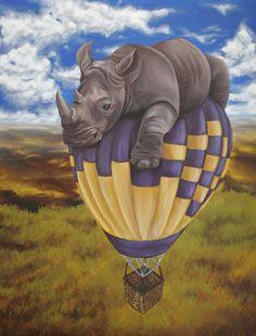 Flying Rhino....Ummm, I think Lisa needs to make me something like this.