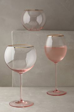 I want!!! gilded rim stemware http://rstyle.me/n/pz62spdpe