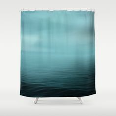 Art Shower Curtain Ocean Blue Photography Home Decor Photograph Grey Gray Nautical Photo Beach House Navy Tan Bathroom