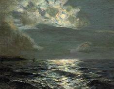 marine oil paintings: Albert Julius Olsson