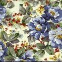 Winter Floral Blue