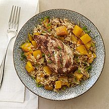 Moroccan Chicken with Apricots and Squash